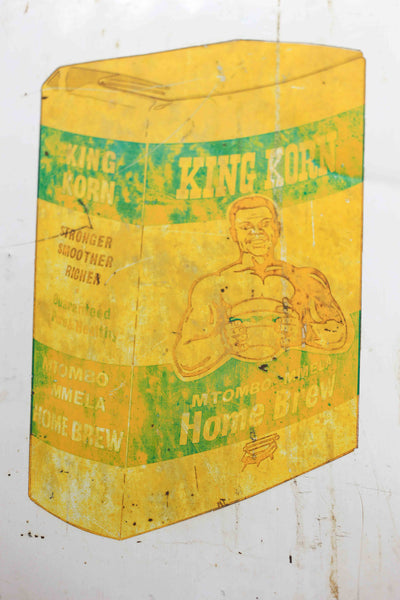 Vintage King Korn Enamel Sign