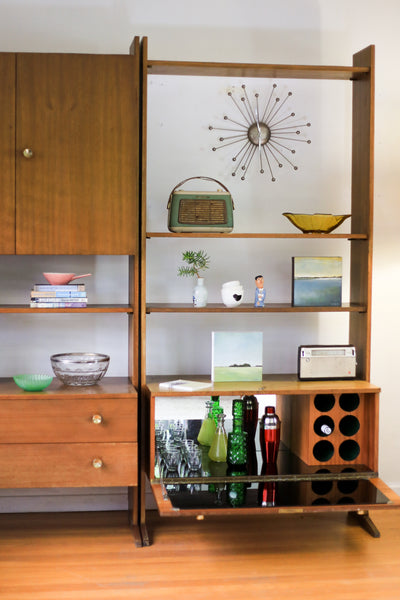 Unrestored Wall Unit with Drinks Cabinet