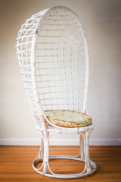 Mid Century Wicker Birdcage Chair