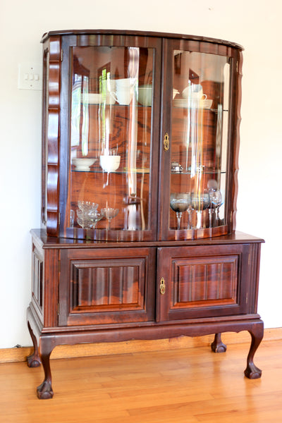 Heirloom Imbuia Display Cabinet