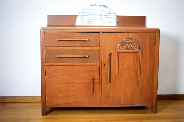 Art Deco Teak Two Door Sideboard