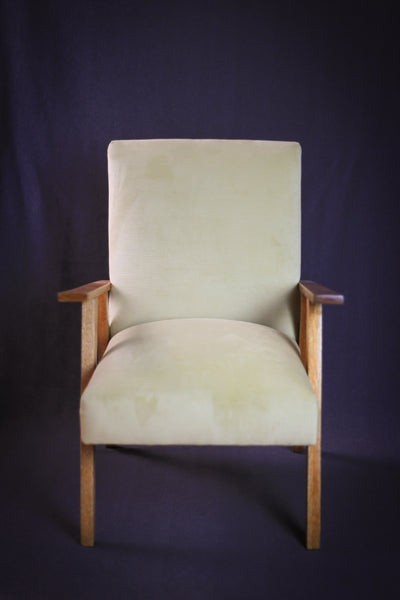 Recovered Mid Century Lounge Chair