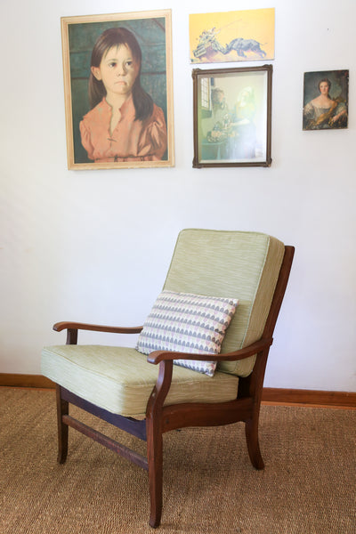 Retro Arm Chair with New Cushions