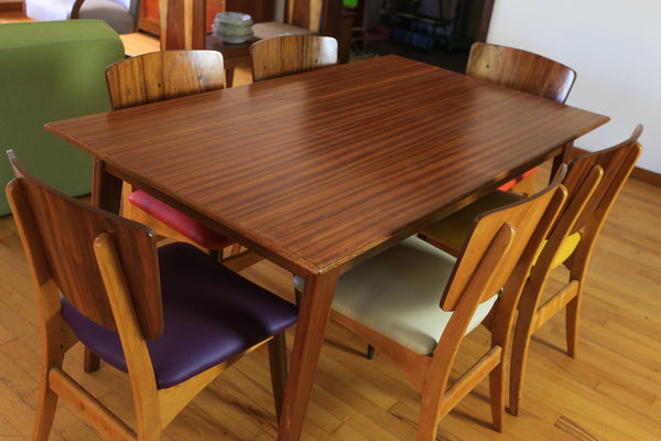 Mid Century Six Seater Dining Table