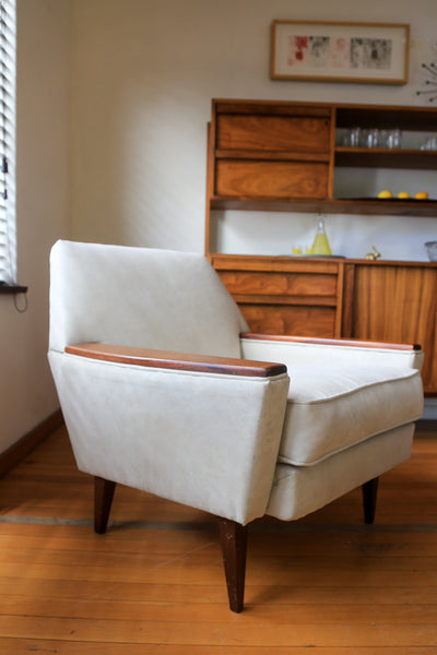Re-upholstered Mid Century Armchair