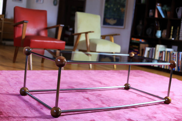 1970's Chrome and Glass Coffee Table