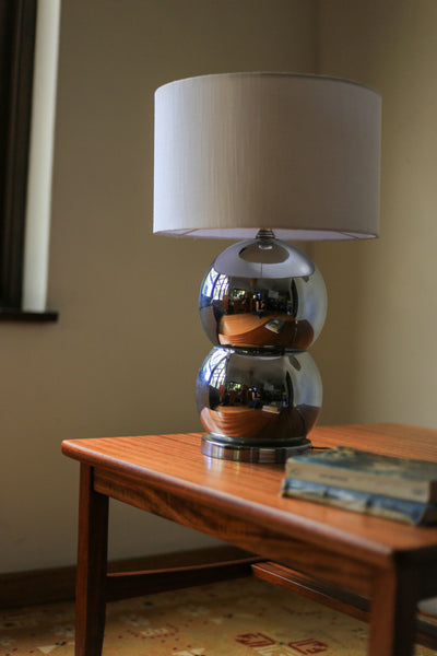 Vintage Stacked Ball Chrome Lamp