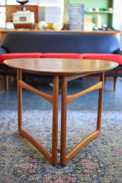 1950's Danish Triangular Folding Table by Peter Hvidt & Orla Mølgaard-Nielsen