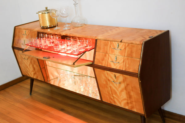 Mid Century Drinks Cabinet with Built in Light