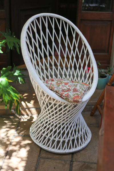 Vintage Wicker Pod Chair