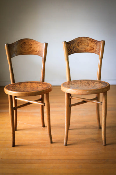 Two J&J Kohn Cafe Chairs c.1900 - sold as a pair