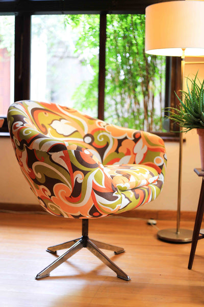 Autumn Retro Zodiac Swivel Chair