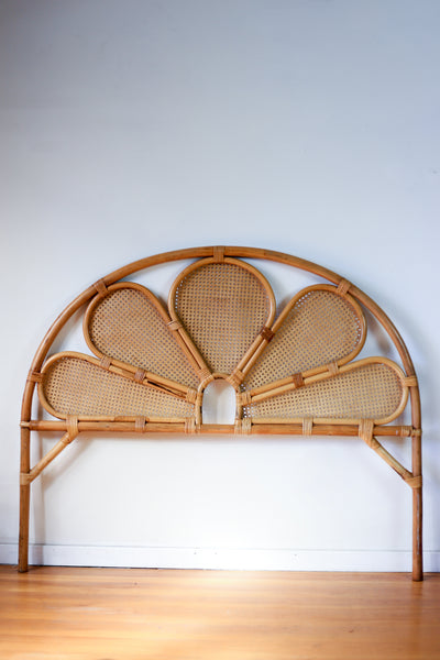 Peacock Cane Double Bed Headboard