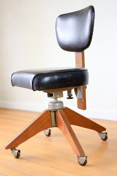 Vintage Hillcrest Swivel Office Chair