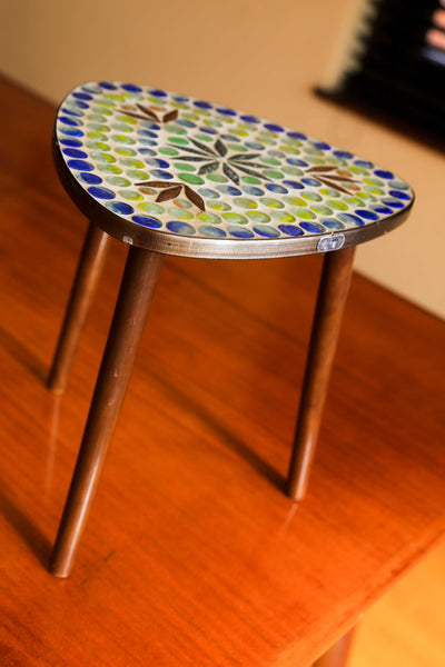 Small Retro Mosaic Side Table