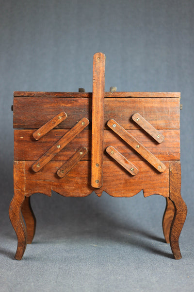 Antique Accordion Sewing Box