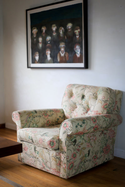Vintage Upholstered Armchair