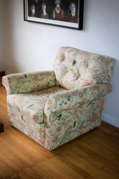 Vintage Upholstered Armchairs