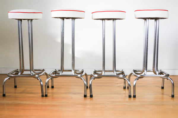 Chromed Tubular Steel Bar Stools
