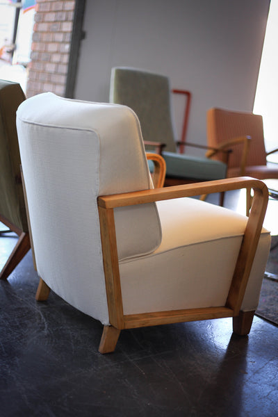 Vintage High Back Hospital Waiting Chair