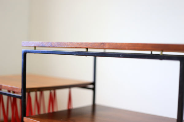Steel and Wood Turntable Shelf
