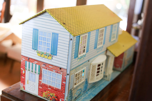 Vintage Tin Doll House with Furniture