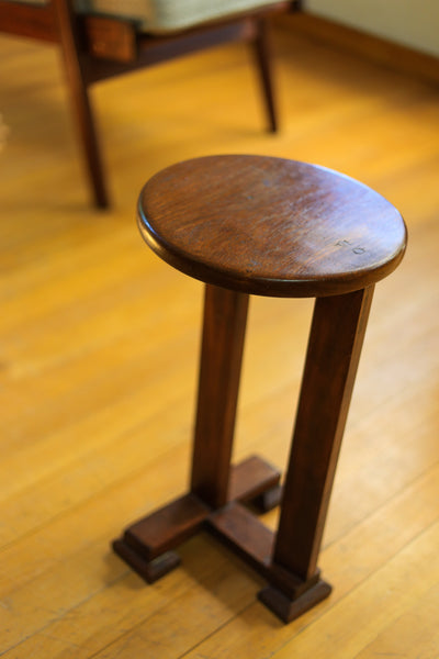 Solid Wood Art Deco Side Table