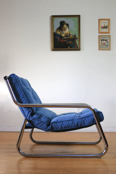 Mid-century Reclining Patio Chair