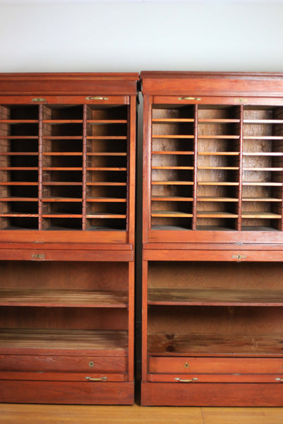 Magnificent 1940's Law Office Filing Cabinets - sold individually