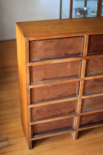 Antique Fishing Tackle Chest of Drawers