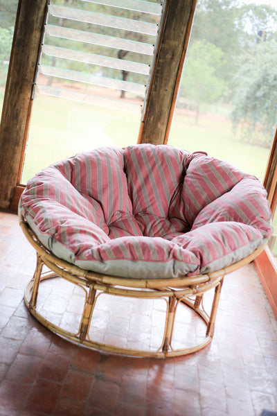 Vintage Bamboo and Cane Papasan Chairs