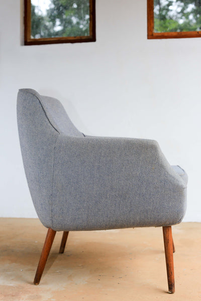 Grey Retro Arm Chair