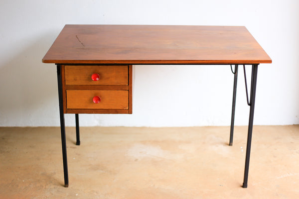 Modernist Steel and Wood Desk