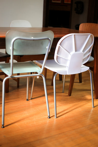 Frosted Glass Designer Dining Chairs