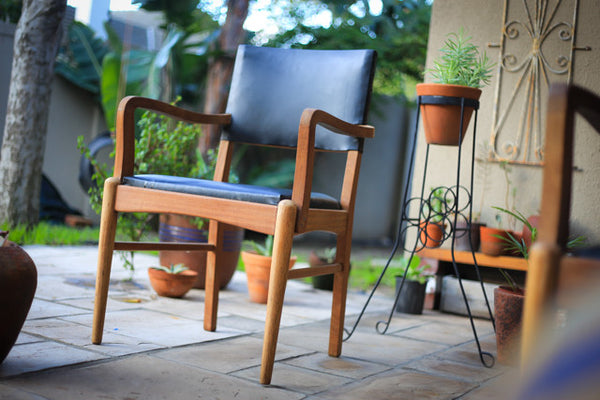 Two Teak Dining Chairs