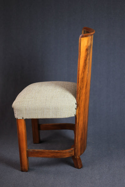 Six Art Deco Dining Chairs