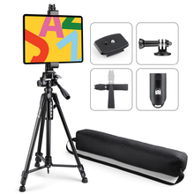 将图片加载到图库查看器,Zeadio Tablet Camera Tripod, with Tripod Mount Holder and Bluetooth Remote Control, Fits for All iPad, Microsoft Surface, Nexus and All Tablets