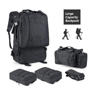 Zeadio Military Tactical Backpack, Large Survival Rucksack Army Assault Pack Molle bag