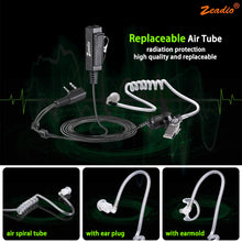 将图片加载到图库查看器,Zeadio Surveillance Covert Acoustic Tube Earpiece Headset for Zeadio ZS-B1 Kenwood Baofeng HYT 2 PIN Walkie Talkie Radio