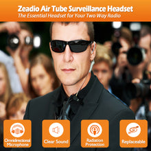 将图片加载到图库查看器,Zeadio Surveillance Covert Air Acoustic Tube Walkie Talkie Earpiece Headset with Push-To-Talk Microphone for Motorola Multipin Two Way Radio