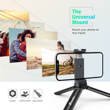 Load image into Gallery viewer, Zeadio Metal Smartphone Tripod Holder, with Hot-Shoe Mount, Fits for iPhone, Samsung, LG, Sony, Huawei, Nexus, Nokia, etc
