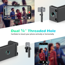 将图片加载到图库查看器,Zeadio Metal Smartphone Tripod Holder, with Hot-Shoe Mount, Fits for iPhone, Samsung, LG, Sony, Huawei, Nexus, Nokia, etc