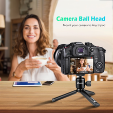 "Load image into Gallery viewer, Zeadio Tripod Mini Ball Head, with 1/4"" 3/8"" Screw Ball Head Tripod Mount for Cameras, DSLR, Monopod, Slider, Tripod etc"