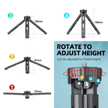 将图片加载到图库查看器,Zeadio Metal Tripod, 4 Adjustable Fixed Heights Desktop Tripod Stand for Smooth 4, Crane Plus, Osmo Mobile, Ronin-S, Vimble 2, Gimble Handle Grip Stabilizer and All Cameras