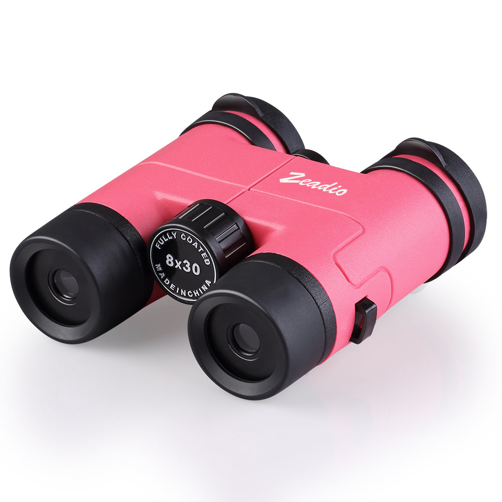 Zeadio Binoculars for Kids, Perfect for Watching Football Safari Sightseeing, Camping and Travel - Pink