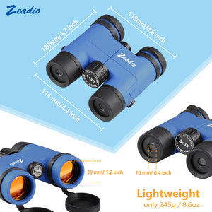 Zeadio Binoculars for Kids, Perfect for Watching Football Safari Sightseeing, Camping and Travel - Blue