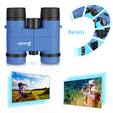 将图片加载到图库查看器,Zeadio Binoculars for Kids, Perfect for Watching Football Safari Sightseeing, Camping and Travel - Blue