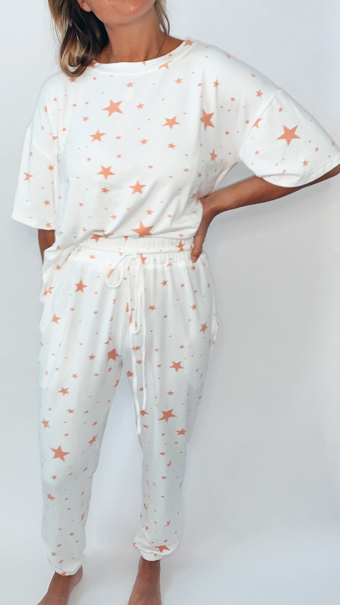 Casey Star Joggers - Coral