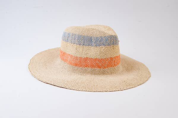 Malibu Stripe Straw Hat