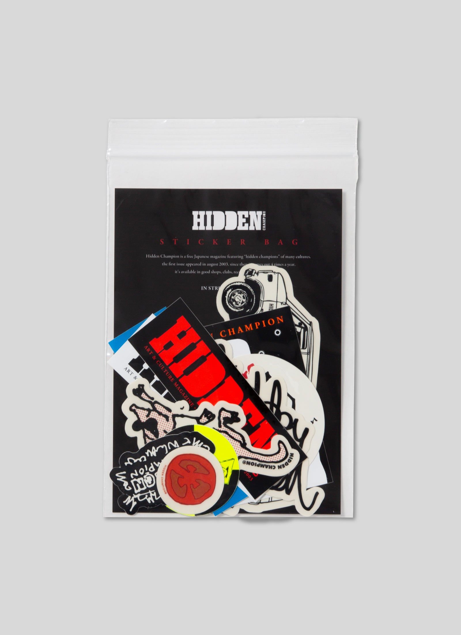 HIDDEN CHAMPION - Sticker Bag 2020
